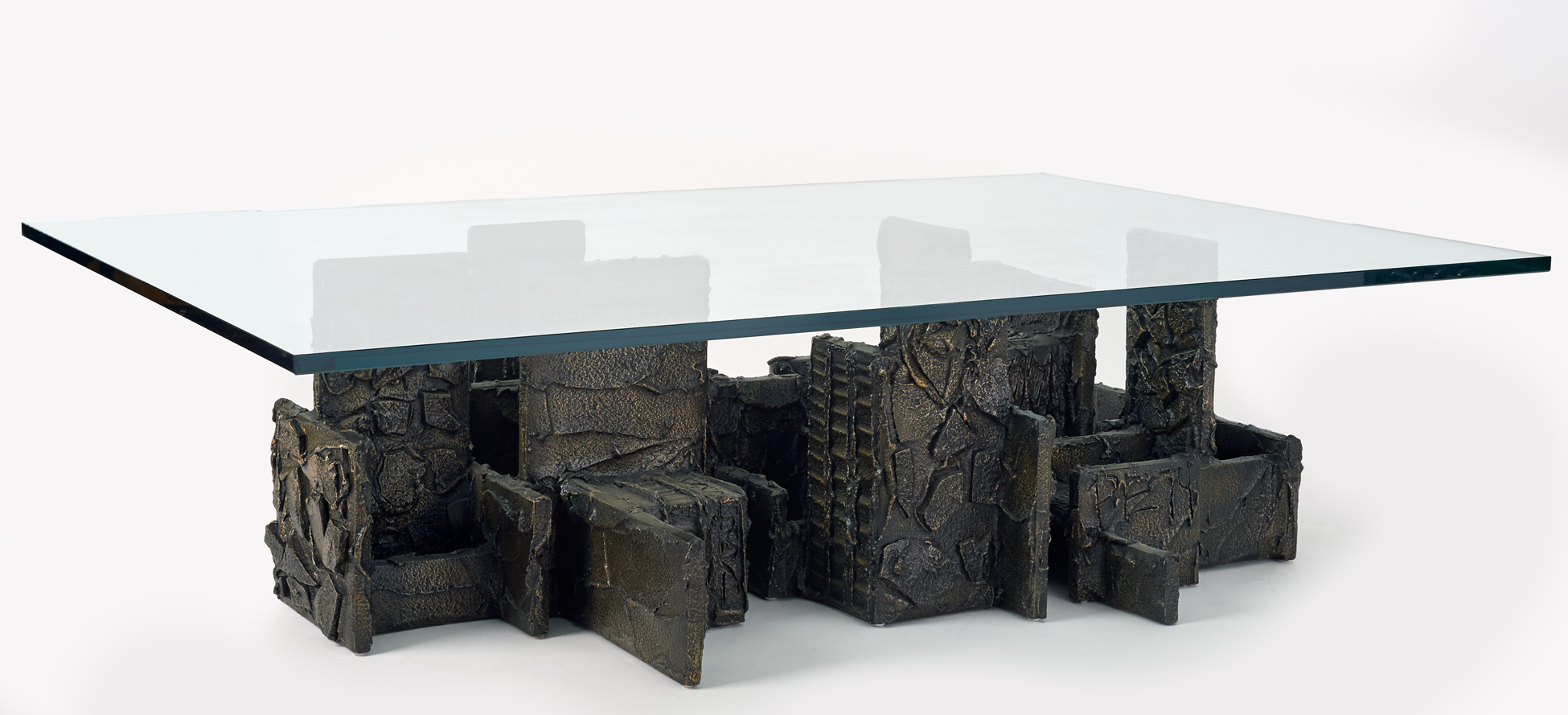 Monumental Bronzed Coffee Table By Paul Evans